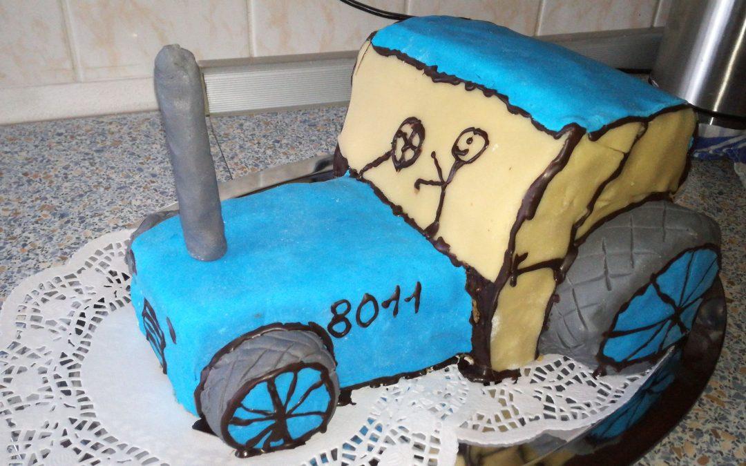 Dort traktor sčokoládovým krémem